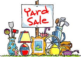 garage sale---yard